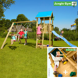 Игровой комплекс «Jungle Castle + Swing Module Xtra + Rock Module»
