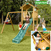 Игровой комплекс «Jungle Cottage + Swing Module Xtra + Rock Module»